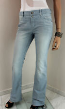 MARCCAIN Damen Jeans Hose N5 N6 42 44 XL Baumwollmischung blau Linien Wash Out