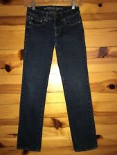 *AMERICAN EAGLE* Women's Juniors STRAIGHT Stretch Jeans Size 00 Short