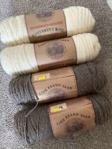 Lion Brand Fishermen's Wool Yarn X 4