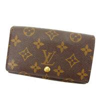 Louis Vuitton Wallet Purse Monogram Brown Woman Authentic Used Y4617