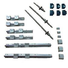 SBR16-300/700/1100 Rail+ 3 ballscrews RM1605-350/750/1150 + 3 BK/BF12 +3 coupler