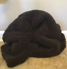 """NEW Pottery Barn Teen Sherpa Faux Fur Bean Bag Cover LARGE 41"""" CHOCOLATE"""