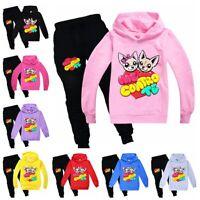 Felp Set di felpa pantaloni con cappuccio casual per ragazzo e ragazze