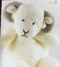 """Knitting Pattern For  Toy Animal Ram  8"""" In Height"""