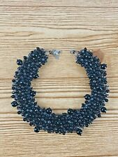 Panacea Necklace black Beaded Collar Necklace Adjustable fashion chunky