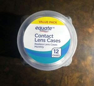 "<NEW> Equate Contact Lens Cases 12 COUNT VALUE PACK ""Free Shipping"""