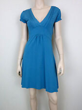 XX BY MEXX Casual Knit Dress Cap Sleeve V-Neck Empire Waist Blue M