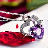 Silver 925 Heart Necklace Chain Jewellery Women Gifts Presents for Her Girl J400