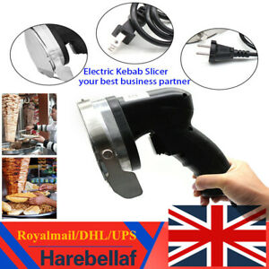 Professional Electric Shawarma Doner Kebab Meat Slicer Gyros Cutlery Catering uk