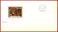 Romania Rumänien 1969 Religion, Art, painting, miniature sheet FDC, Mi Bl 73