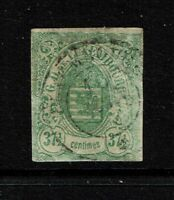 Luxembourg SC# 11, Used, Hinge Remnant, small crease - S4014