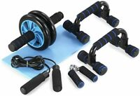 5-in-1 Ab Roller Wheel Workout Equipment Set Abdominal Exercise Home Gym Fitness