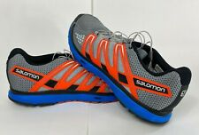 Salomon X-Scream City Trail Mens 13 Blue Orange Running Hiking Shoes Sneakers