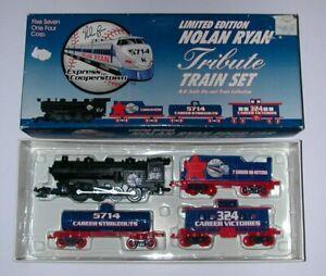 Nolan Ryan Tribute Train Set - Limited Edition - HO - w/OB - Excellent - L@@K