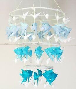 Woven plastic fishs mobile Chandelier Crafts Décor Hanging Carp Thai Retro Art