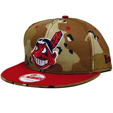 Cleveland Indians 6 Day Camo Custom Snapback Hat