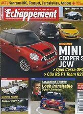 ECHAPPEMENT n°495 11/2008 MINI COOPER JCW CLIO R27 ABARTH 500 LAGUNA coupé V6