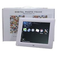 "Remote 8"" High TFT-LCD HD Digital Photo Movies Frame Alarm Clock MP3 MP4 Player"