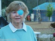 World's Best Eye Patch - ADULT AQUA , LASTS FOR YEARS, replaceable elastic.