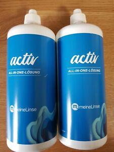 2 x Kontaktlinsenpflege active Lösung 380 ml All in one NEU !!!!