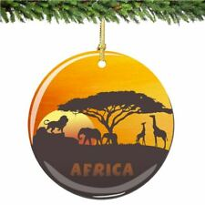 African Christmas Ornament Porcelain