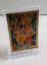 Lord Shiva Parvati Ganesha Kartik 3x4 Small Acrylic Photo Frame Table Top