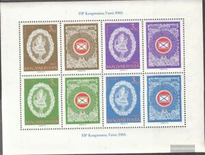 Hungary Block31A fine used / cancelled 1960 congress the FIP