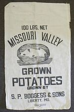 OLD 100 LBS. NET MISSOURI VALLEY POTATOES SACK