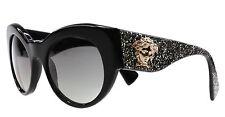 VERSACE Medusa VE 4297 Cat Eye Women Sunglasses Black Gold Glitter 5156/11