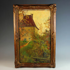 Oil on Board oil Painting by French artist Anna Devaux-Raillon (1891-1968)