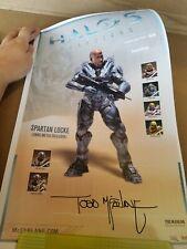 Halo 5 Gaurdians SPARTAN LOCKE no helmet Lithograph Poster Signed Todd McFarlane