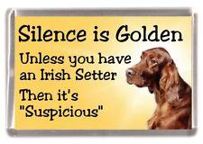 """Irish Red Setter Dog Fridge Magnet """"Silence is Golden .."""" by Starprint"""
