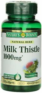 Nature's Bounty Milk Thistle 1000mg Softgels 50 ea (Pack of 8)