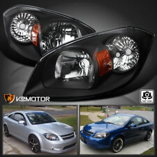 05 10 Chevy Cobalt 07 09 Pontiac G5 06 Pursuit Black Headlights