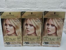 3 Schwarzkopf Ultime Hair Color  Iconic Blondes 9 1/2 Light Natural Blonde Read