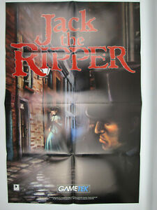 "Jack The Ripper Vintage 1995 Poster by Gametek PC Game Advertising 19"" by 30"""