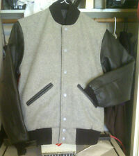 LEATHER SLEEVE WOOL BODY LETTER JACKETS