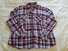 Dickies Womens Flannel Western Work Shirt Size 2XL