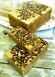 Amazing Indian Mango Wood Boxes Variants of Sizes 22x15 cm / 18x10 cm / 15x8 cm