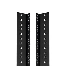 NavePoint 12U Vertical Rack Rail Pair Diy Kit with Hardware