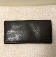 Tumi Brown Leather Large Currency Wallet