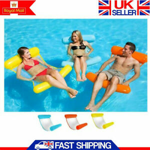 Summer Inflatable Floating Water Hammock Pool Lounge Bed Swimming Chair Hot UK