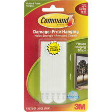 Command Large Picture Hanging Strips - White - Pack of 4