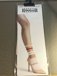 Wolford Boogie Sheer And Metallic Striped Mid-Calf Crew Socks