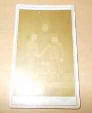 PHOTO CDV DES FRERES OU FRERES JUMEAUX A CHEF BOUTONNE DEUX SEVRES 1870/1880 2