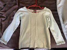 Matilda Jane Ls Shirt, Size 2, Lt Green Dot, Vguc