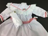 AMERICAN GIRL Samantha Tea Party~Holiday Dress/Outfit Collar~Socks Historical