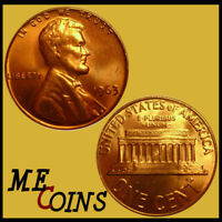 1963 Lincoln Memorial Cent Penny , GEM BU Red , US Coin , Free Shipping!