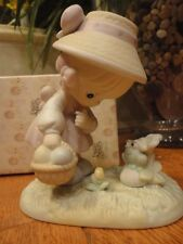 Precious Moments Figurine Hoppy Easter Friend 1990 521906 Mib