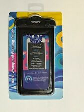 Tzumi Aqua Pocket Touch 100% Waterproof Floating Pouch Cell Phone Case Black